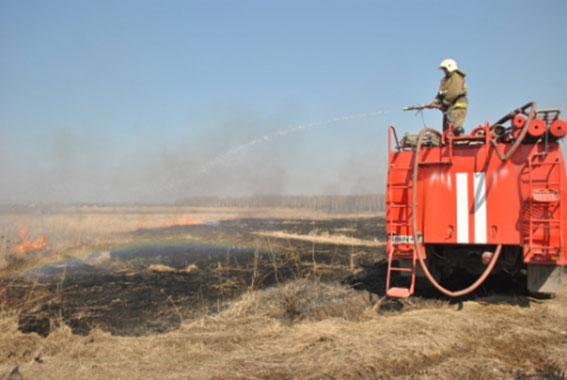Около одной тысячи возгораний сухой травы и мусора ликвидировали ивановские пожарные за полтора месяца