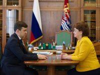 Станислав Воскресенский встретился с избранным председателем Ивановской областной думы