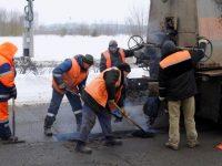 На региональных дорогах идет ямочный ремонт