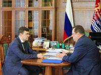 Станислав Воскресенский провел встречу с гендиректором Российской телевизионной и радиовещательной сети
