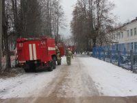 Условный пожар тушили в школе №2