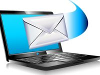 email sent and arriving from a laptop - Mailing the world internet connection