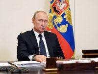 MOSCOW REGION, RUSSIA - MAY 19, 2020: Russia's President Vladimir Putin takes part in a video conference meeting of the Supreme Eurasian Economic Council at Novo-Ogaryovo residence. Alexei Nikolsky/Russian Presidential Press and Information Office/TASS  Ðîññèÿ. Ìîñêîâñêàÿ îáëàñòü. Ïðåçèäåíò Ðîññèè Âëàäèìèð Ïóòèí â Íîâî-Îãàðåâî âî âðåìÿ çàñåäàíèÿ â ðåæèìå âèäåîêîíôåðåíöèè Âûñøåãî Åâðàçèéñêîãî ýêîíîìè÷åñêîãî ñîâåòà. Àëåêñåé Íèêîëüñêèé/ïðåññ-ñëóæáà ïðåçèäåíòà ÐÔ/ÒÀÑÑ