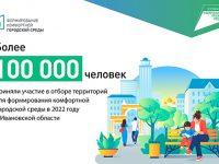 Более 100 тысяч жителей региона приняли участие в голосовании за объекты благоустройства