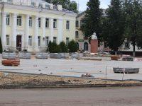 Продолжается благоустройство  главной площади Комсомольска