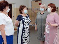 Марина Дмитриева посетила с рабочим визитом Комсомольский район