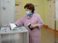 Марина Дмитриева проголосовала на выборах депутатов Государственной Думы РФ